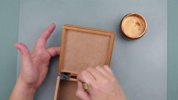diy shabby chic jewelry box decoupage