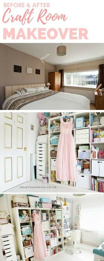 before and after craft room makeover