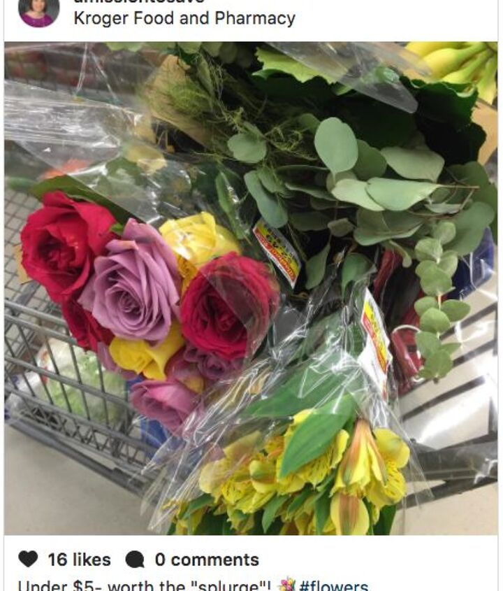 budget bouquet gift idea with a little surprise bling