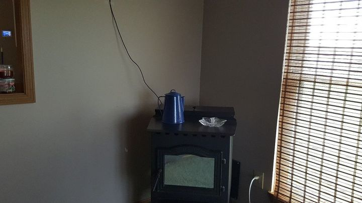 q corner mantle shelf ideas for above my pellet stove
