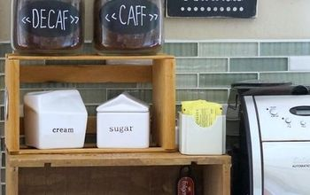 Old Wooden Crate Coffee Station