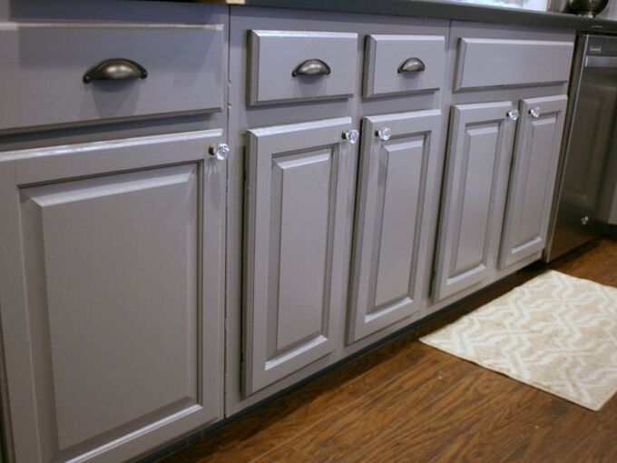 tuxedo kitchen spray painted cabinet makeover