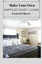 make your own ruffled duvet cover from flat sheets