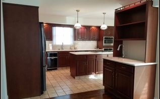 1980s traditional kitchen update, View of wet bar as seen from breakfast area
