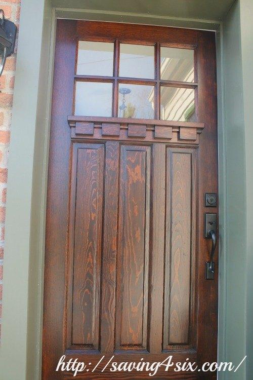 craftsman front doorRefinished Craftsman Front Door  Hometalk
