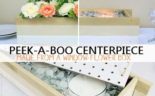 peek a book seasonal centerpiece from window box