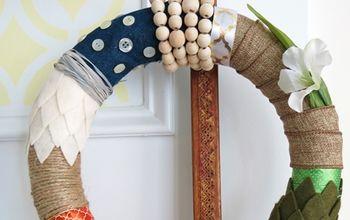 four seasons fabric ribbon wreath