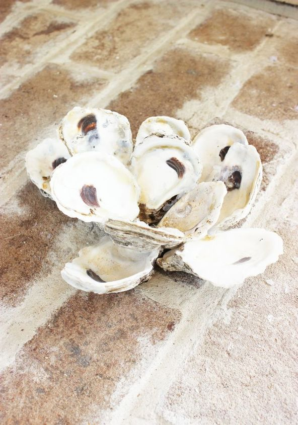 making a oyster shell candle holder