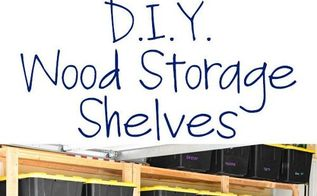 how to make wood storage shelves