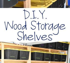 How To Make Wood Storage Shelves