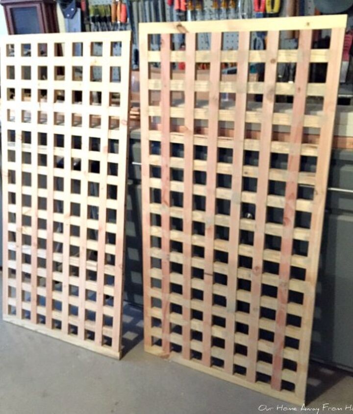 homemade wood privacy screens