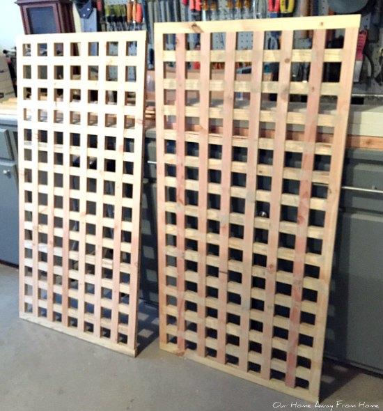homemade wood privacy screens