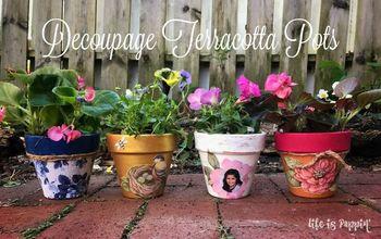 Decoupage Terracotta Pots