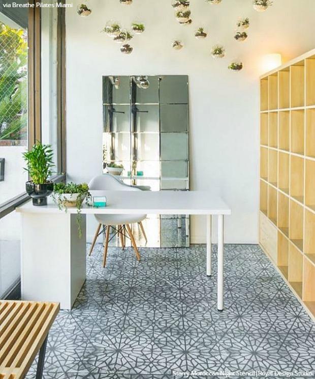 Easy DIY Fix: Concrete Floor Stencils | Hometalk
