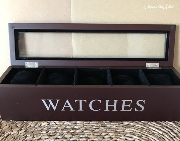 thrift store find watch box makeover