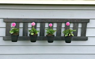 upcycled ladder planter