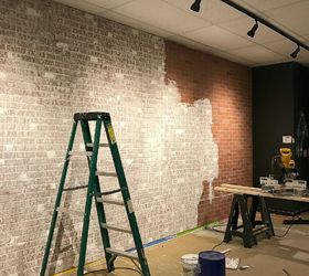 Create Faux Brick Wall Using Inexpensive Paneling Hometalk