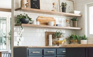 how to finish kitchen shelving