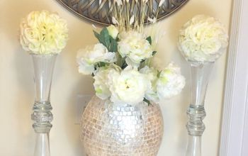 glam vase kissing ball diy dollar store