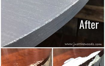 Dog Ate Your Furniture? How to Repair & Paint a Chewed Pedestal Table