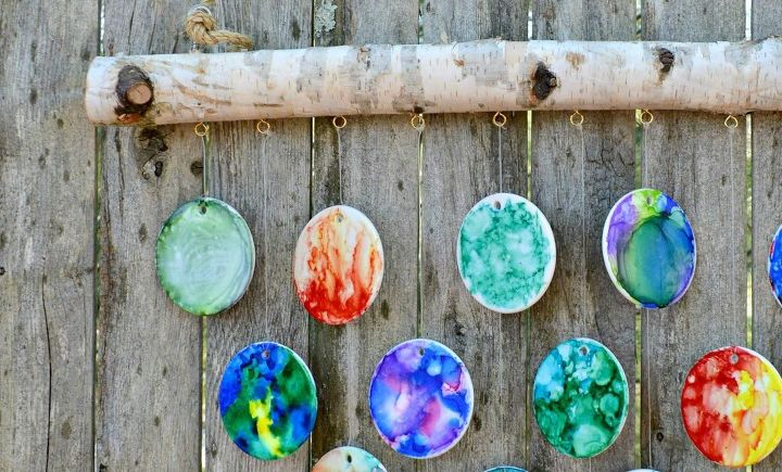 diy hand painted wind chimes