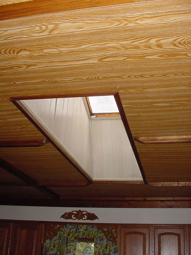 q what can i do with the ceiling after the skylight is removed