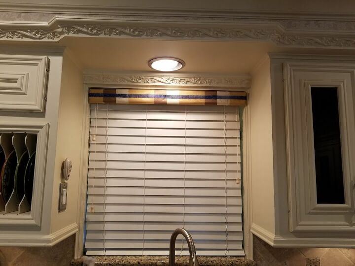 t add fabric to your faux wood blind valance