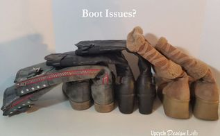 six super fast and easy upcycled boot tree ideas