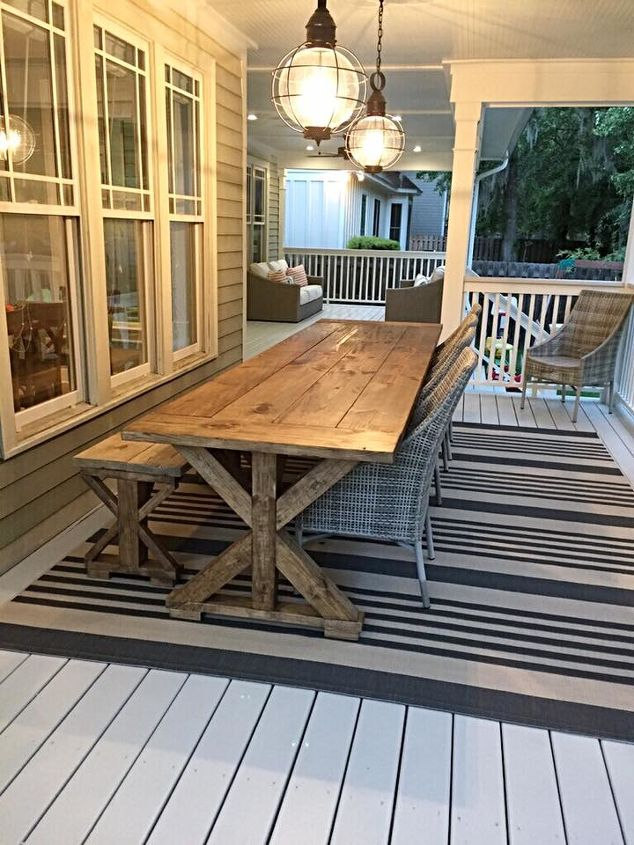 e beautiful x brace farmhouse table