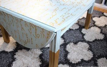 Ugly Broken Coffee Table Gets a Beautiful French Makeover  #FreeFinds