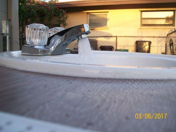 outdoor sink for washing garden veggies