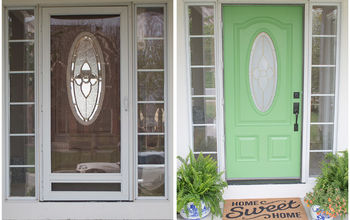$15 Front Door Redo With Faux Etched Glass