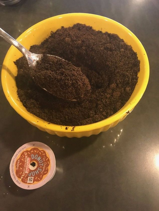 fill a sock with coffee grounds to get rid of fridge odors