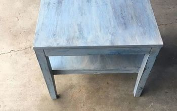 beachy weathered end table
