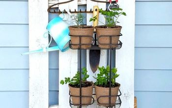 Vertical Herb Garden for a Small Porch