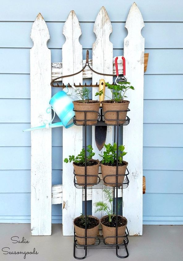 vertical herb garden for a small porch