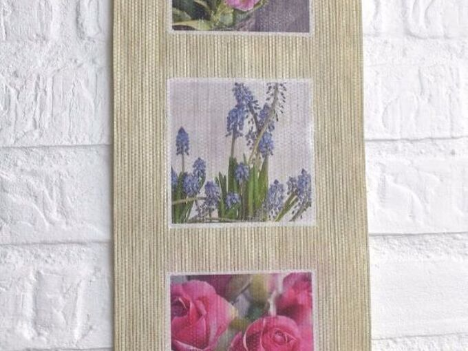 roller blind upcycle using mod podge photo transfer technique