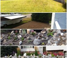 backyard oasis and front rock garden, My front yard from start to now