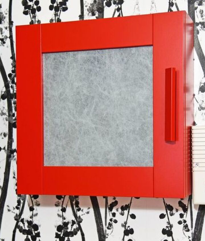 this ikea hack hides an ugly electrical panel