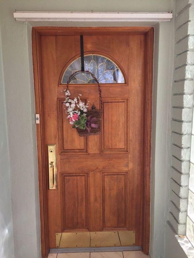 q ideas for repurposing mahogany front door