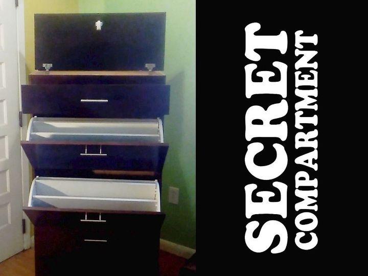 Women's Shoe Cabinet with Secret Compartment