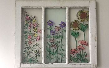 Turn An Old Window Into Wall Art