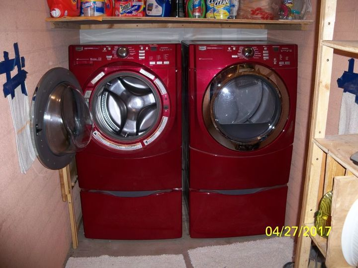 q how can i protect my washer dryer doors from hitting the wall