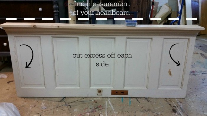 how to upcycle an old door into a headboard