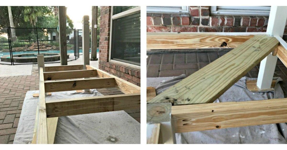 L Shaped Diy Outdoor Bench Hometalk
