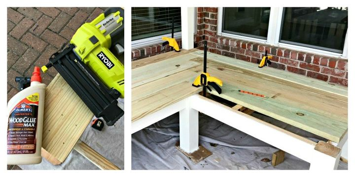 l shaped diy outdoor bench
