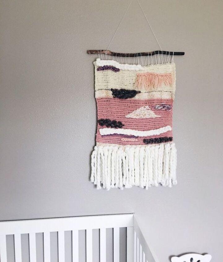 diy yarn wall hanging tutorial