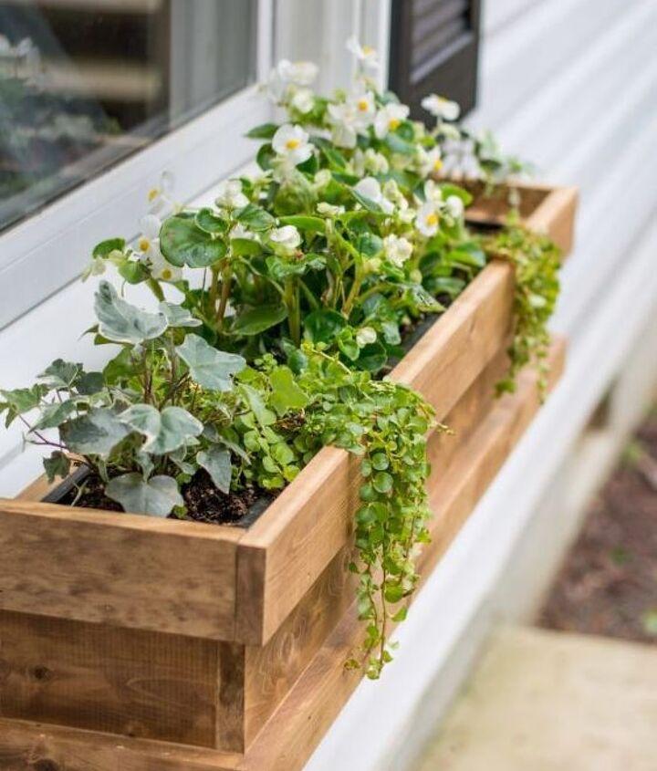 diy cedar window boxes