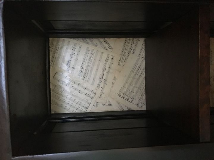 Inside the cabinet