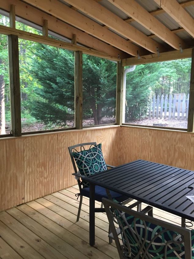 q how should we finish our new screened porch